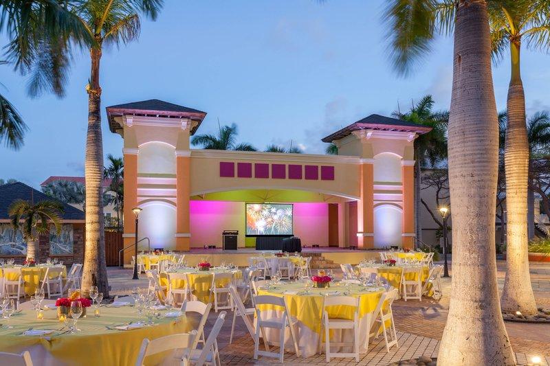 St. Kitts Marriott Resort-Plaza Overview - Outdoor Event Venue<br/>Image from Leonardo