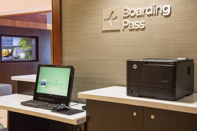 Courtyard by Marriott Fort Lauderdale Beach-Boarding Pass Station<br/>Image from Leonardo