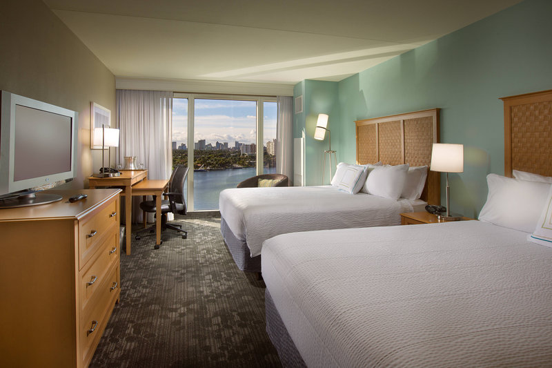 Courtyard by Marriott Fort Lauderdale Beach-Queen/Queen Guest Room - Intracoastal View<br/>Image from Leonardo