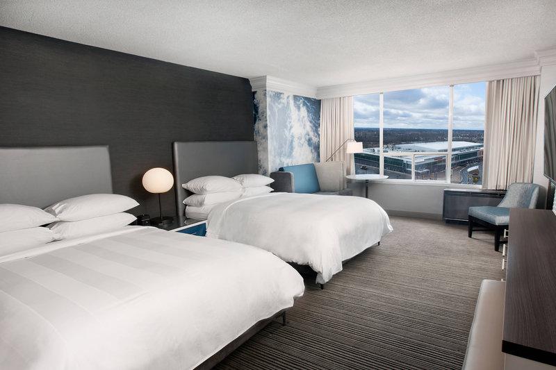 Marriott Niagara Falls on the Falls-Queen/Queen Cityview Guest Room<br/>Image from Leonardo