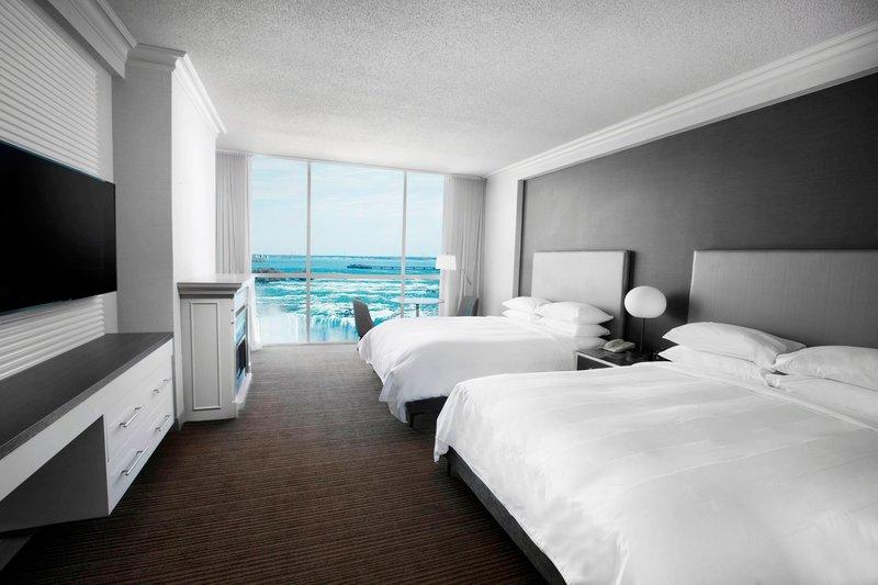 Marriott Niagara Falls on the Falls-Two-Bedroom Fallsview Suite - Queen/Queen Bedroom<br/>Image from Leonardo