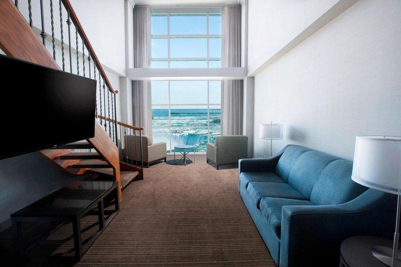 Marriott Niagara Falls on the Falls-One-Bedroom Bi-Level Suite - Living Area<br/>Image from Leonardo