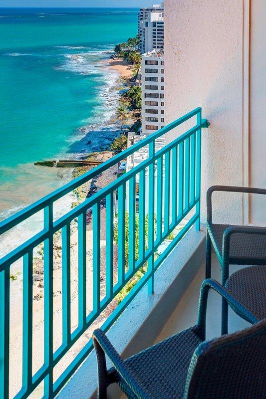 Marriott San Juan Resort - Ocean Front Balcony <br/>Image from Leonardo