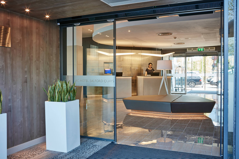 AC Hotel by Marriott Manchester Salford Quays-Entrance<br/>Image from Leonardo