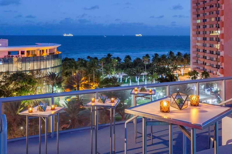 AC Hotel Miami Beach-Rooftop Patio - Cocktail Reception<br/>Image from Leonardo