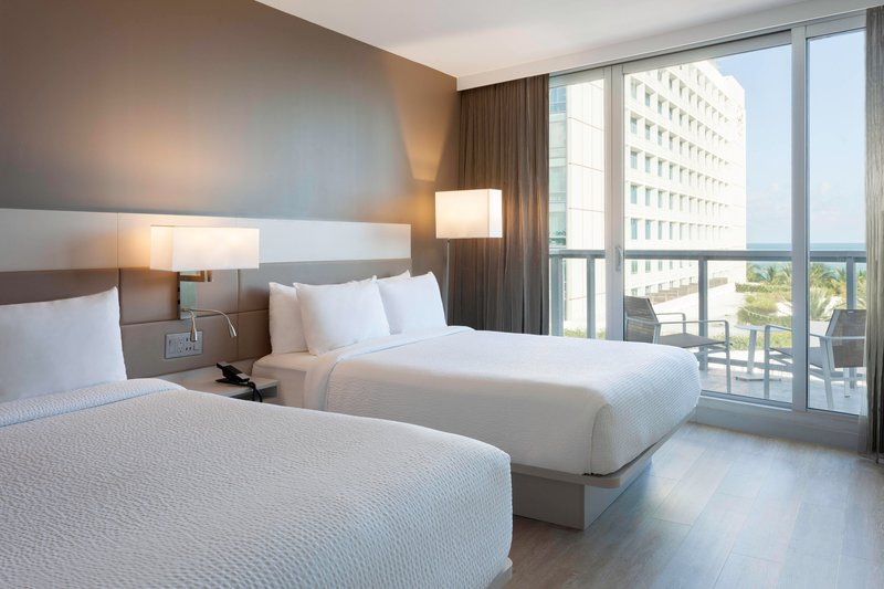 AC Hotel Miami Beach-Queen/Queen Ocean View Suite - Sleeping Area<br/>Image from Leonardo