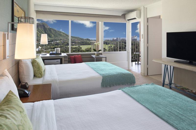Queen Kapiolani Hotel - Ocean View Balcony Queen Queen <br/>Image from Leonardo