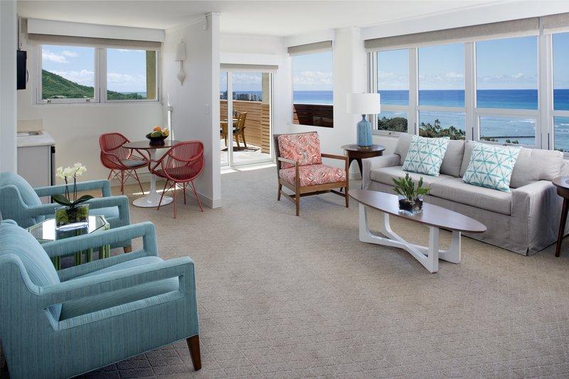 Queen Kapiolani Hotel - One Bedroom Suite Ocean View Balcony King <br/>Image from Leonardo