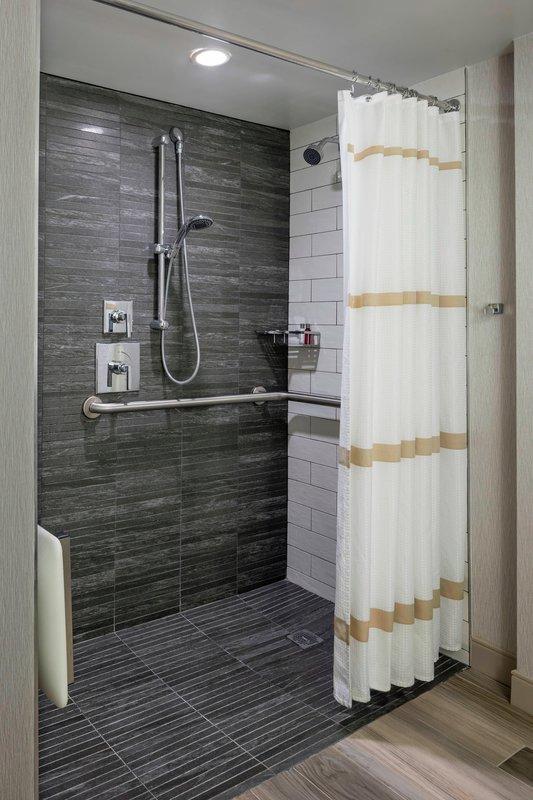 Boston Marriott Newton-Accessible Bathroom - Roll-In Shower<br/>Image from Leonardo
