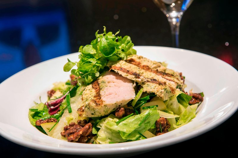 Boston Marriott Copley Place-Champions - Grilled Chicken Pear & Apple Salad<br/>Image from Leonardo