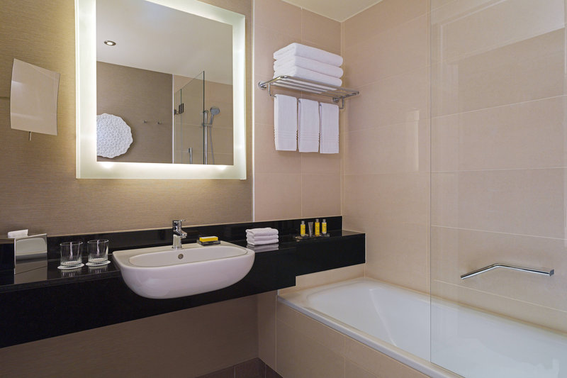 Budapest Marriott Hotel-Deluxe Guest Bathroom<br/>Image from Leonardo
