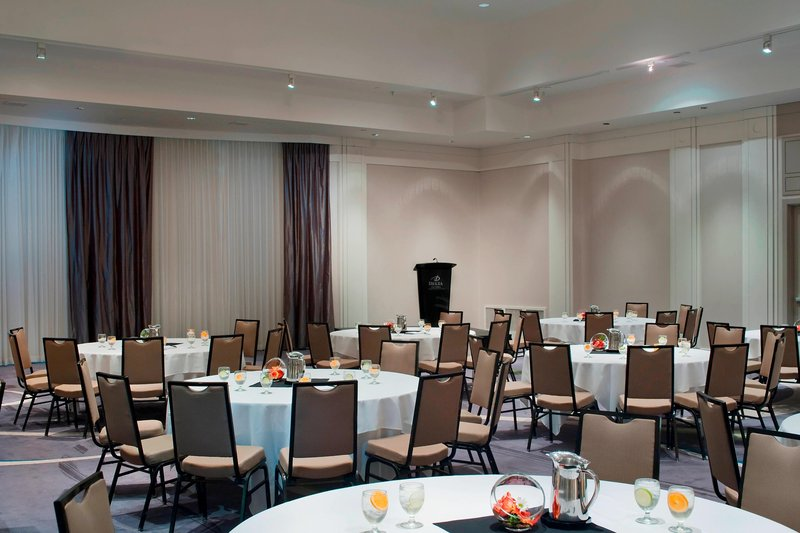 Delta Hotels by Marriott Victoria Ocean Point Resort-Arbutus Ballroom - Rounds Setup<br/>Image from Leonardo