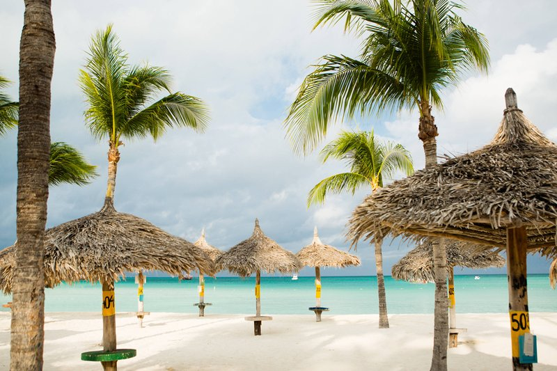 Aruba Marriott Resort - Recreation - Beach Palapas <br/>Image from Leonardo