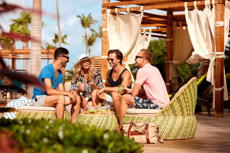 Aruba Marriott Resort - H20asis Outdoor Pool Seating Area <br/>Image from Leonardo