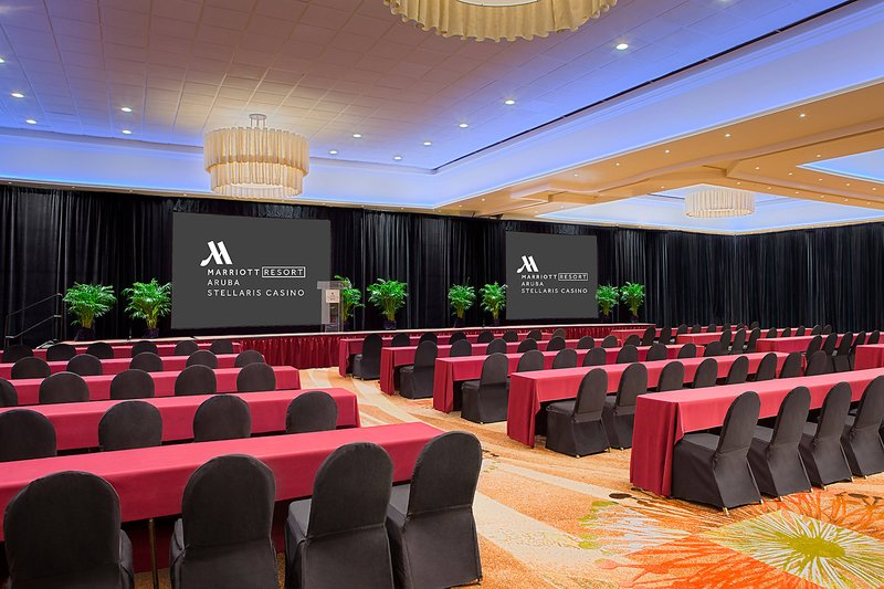 Aruba Marriott Resort - Grand Ballroom – Classroom Setup <br/>Image from Leonardo
