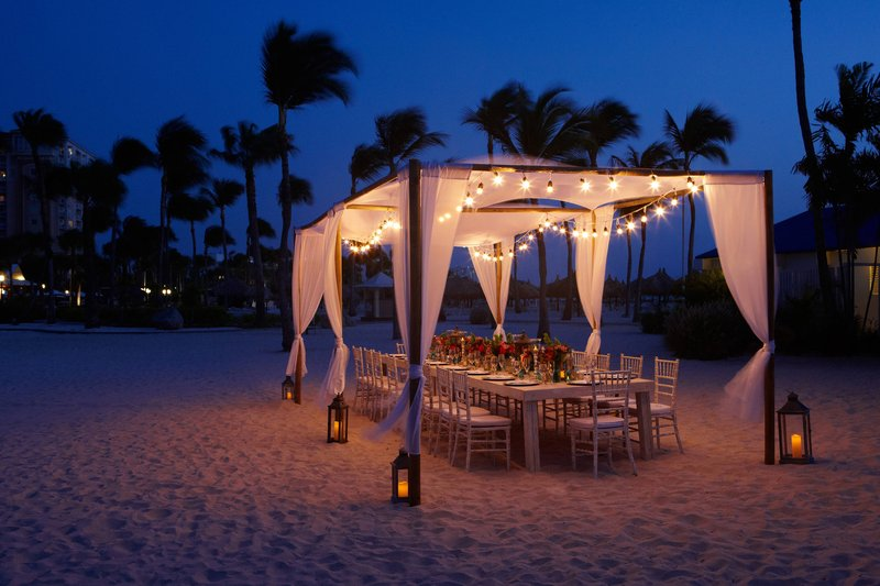 Aruba Marriott Resort - Outdoor Wedding Setup <br/>Image from Leonardo