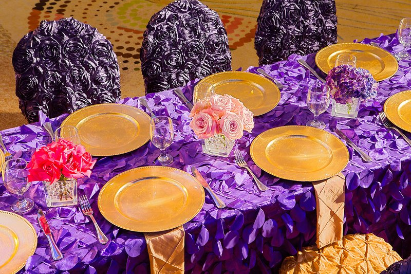 Aruba Marriott Resort - Wedding Reception - Table Setting <br/>Image from Leonardo
