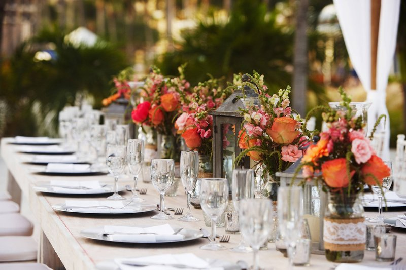 Aruba Marriott Resort - Wedding Table Setup <br/>Image from Leonardo