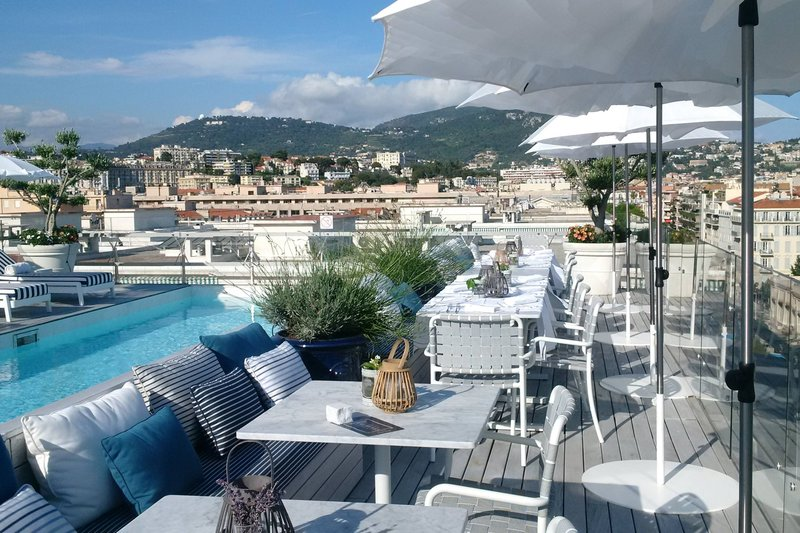 Boscolo Exedra Nice-Terrasse Le BClub - Rooftop Seating<br/>Image from Leonardo