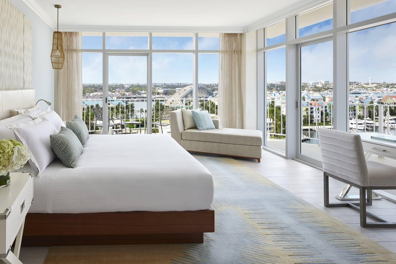 The Coral At Atlantis - Premium Governors Suite - Master Bedroom <br/>Image from Leonardo