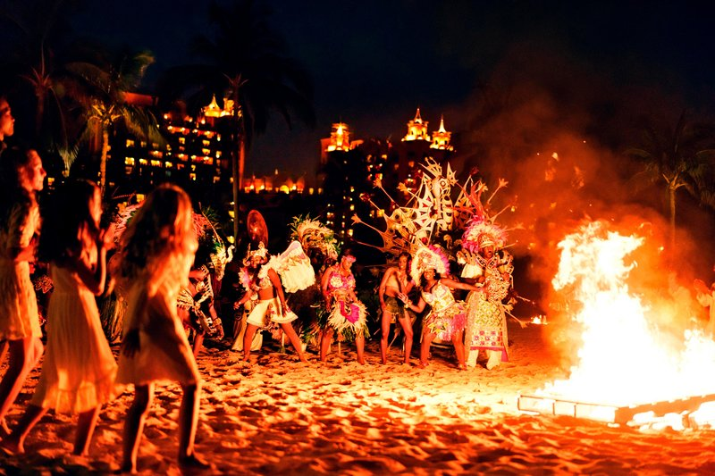 The Coral At Atlantis - Junkanoo on the beach <br/>Image from Leonardo