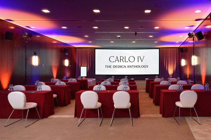 Carlo IV, Dedica Anthology Autograph Collection - Aida Meeting Room - Classroom Setup <br/>Image from Leonardo