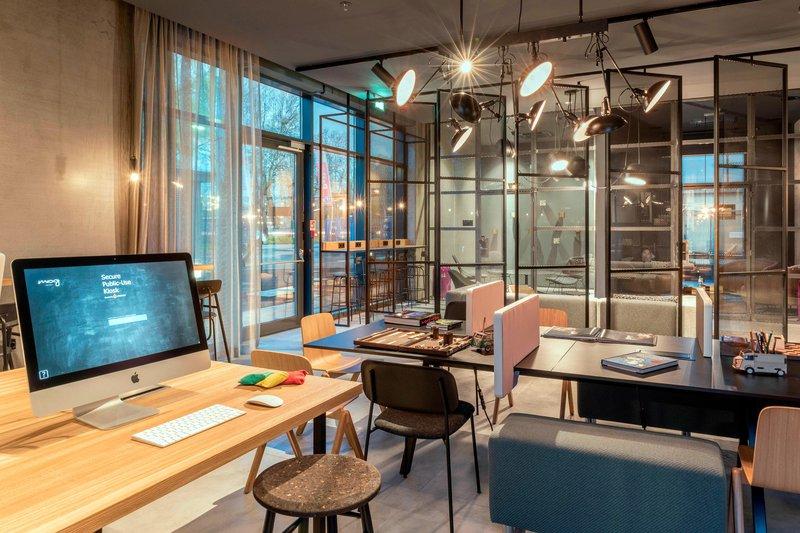 Moxy Milan Linate Airport-Business Corner<br/>Image from Leonardo