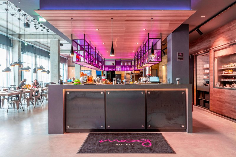 Moxy Milan Linate Airport-Reception Area<br/>Image from Leonardo