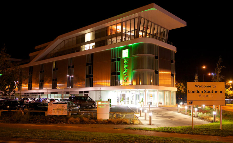 Holiday Inn Southend-Hotel Exterior at night<br/>Image from Leonardo