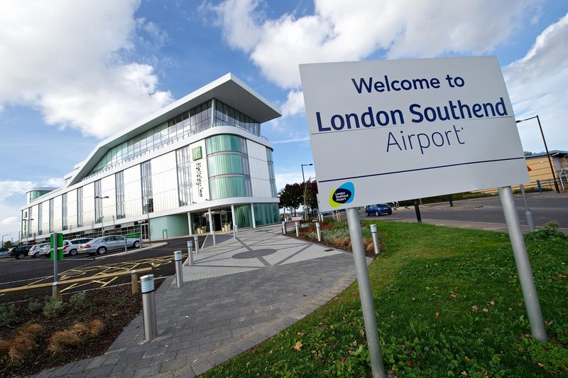 Holiday Inn Southend-Hotel is located beside London Southend Airport<br/>Image from Leonardo