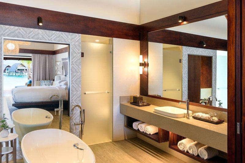Fiji Marriott Resort Momi Bay-Duplex Lagoon Front Bure Guest Room - Bathroom<br/>Image from Leonardo
