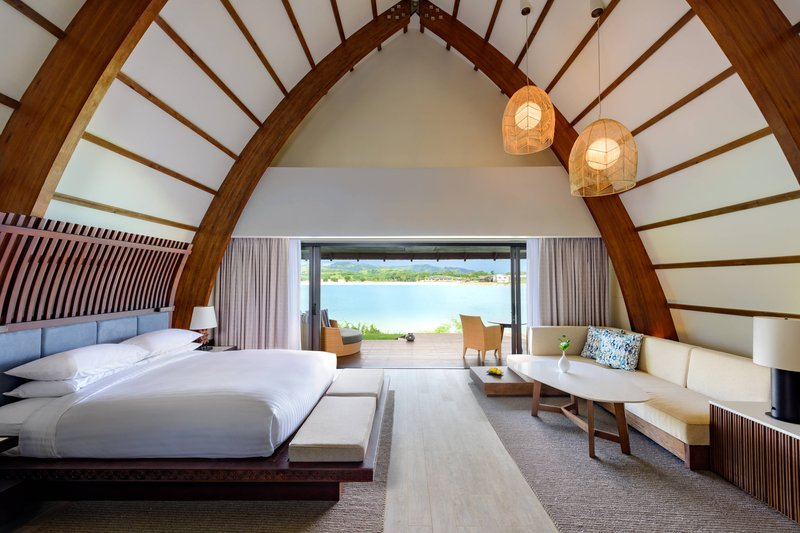 Fiji Marriott Resort Momi Bay-Lagoon Bure Villa - Bedroom<br/>Image from Leonardo