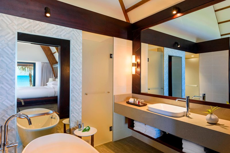 Fiji Marriott Resort Momi Bay-Ocean Front Bure Villa - Bathroom<br/>Image from Leonardo