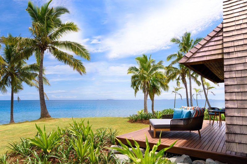 Fiji Marriott Resort Momi Bay-Royal Ocean Front Bure Villa - Deck<br/>Image from Leonardo