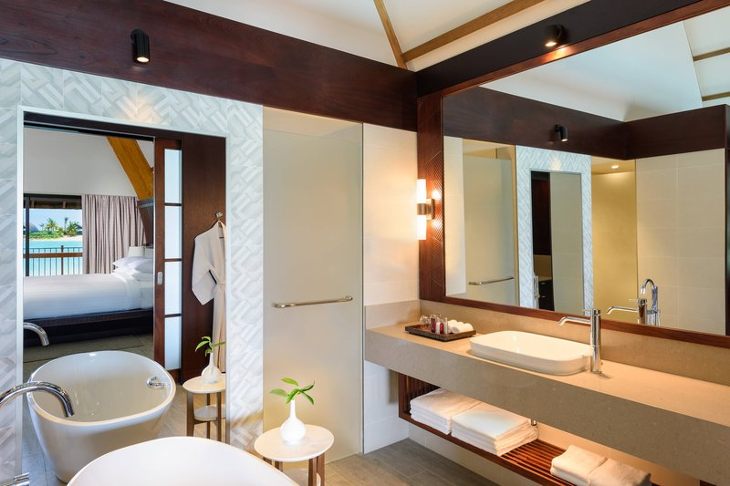 Fiji Marriott Resort Momi Bay-Over-Water Lagoon Bure Villa - Bathroom<br/>Image from Leonardo