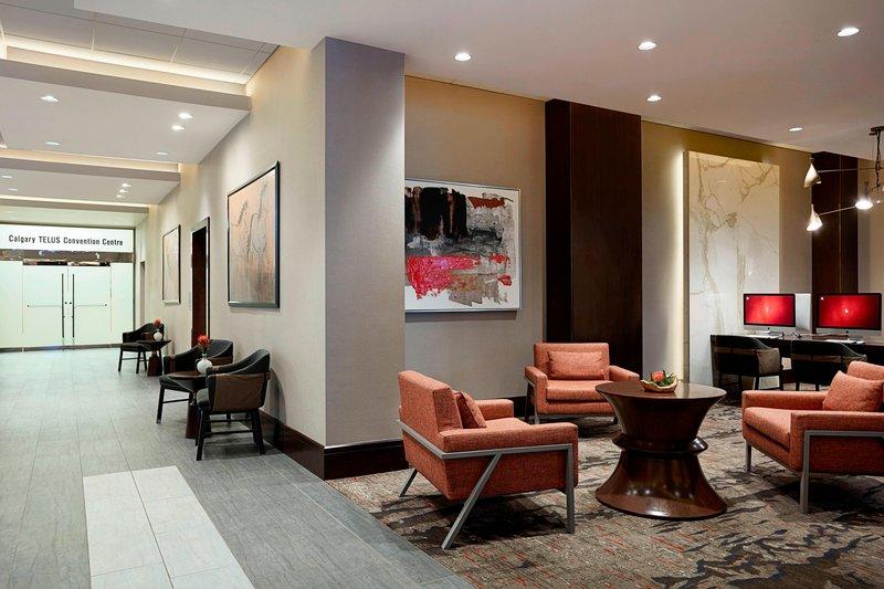 Calgary Marriott Downtown Hotel-Lobby<br/>Image from Leonardo