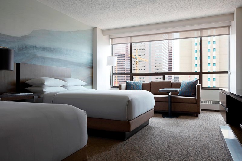 Calgary Marriott Downtown Hotel-Double/Double Guest Room<br/>Image from Leonardo