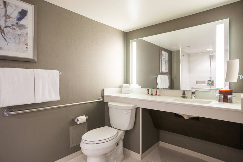 Calgary Marriott Downtown Hotel-Accessible Guest Bathroom<br/>Image from Leonardo