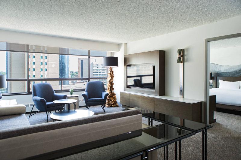 Calgary Marriott Hotel-Premier Suite Living Area<br/>Image from Leonardo