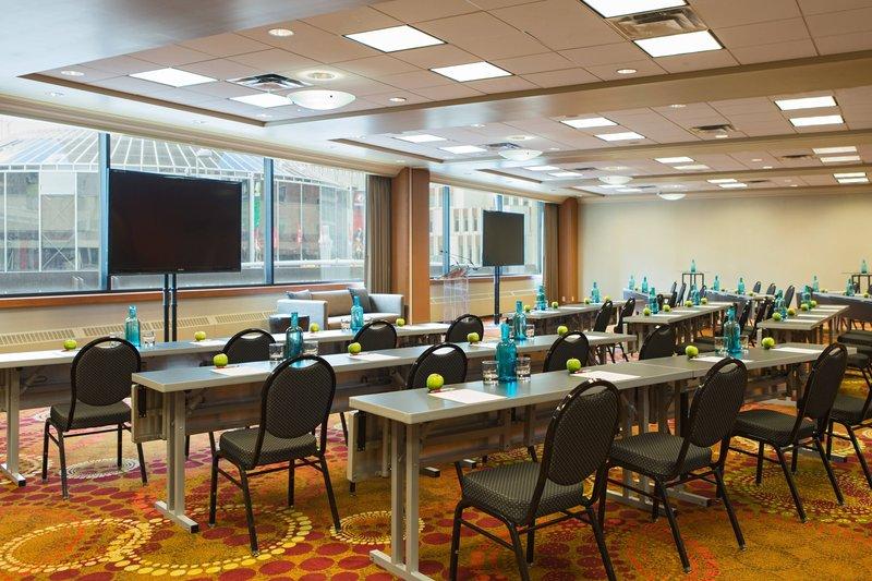 Calgary Marriott Hotel-Acadia Meeting Room - Classroom Seetup<br/>Image from Leonardo