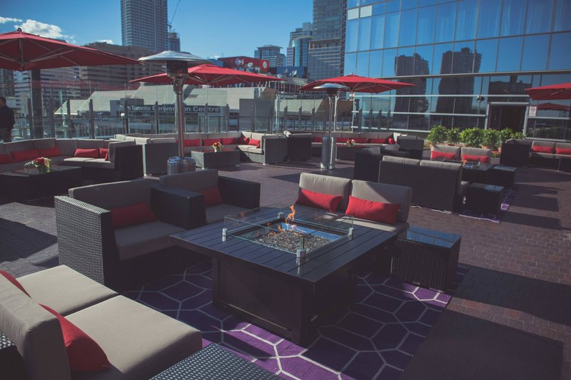 Delta Hotels by Marriott Toronto-The Roof at SOCO - Rooftop Reception Setup<br/>Image from Leonardo