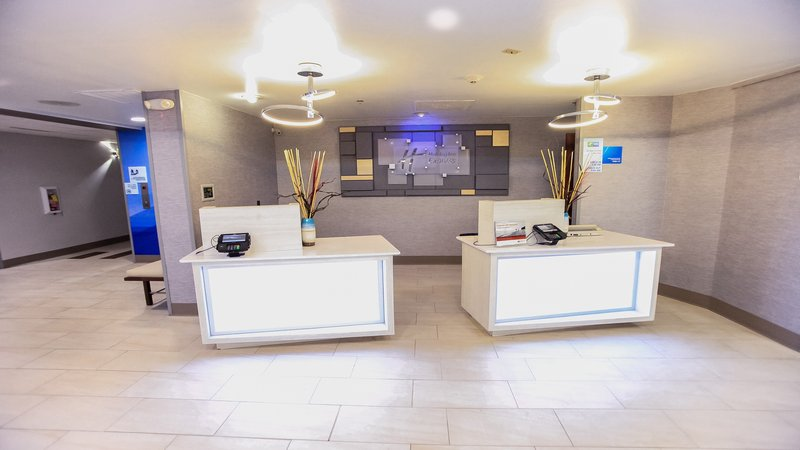 Holiday Inn Express Daytona Beach - Speedway-Arrive at our pods for a personalized check in experience.<br/>Image from Leonardo