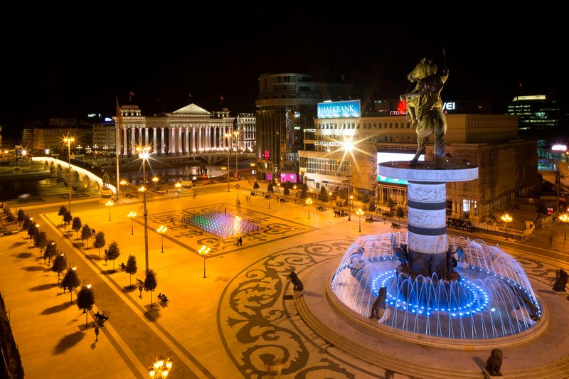 Skopje Marriott Hotel-View from our Hotel<br/>Image from Leonardo