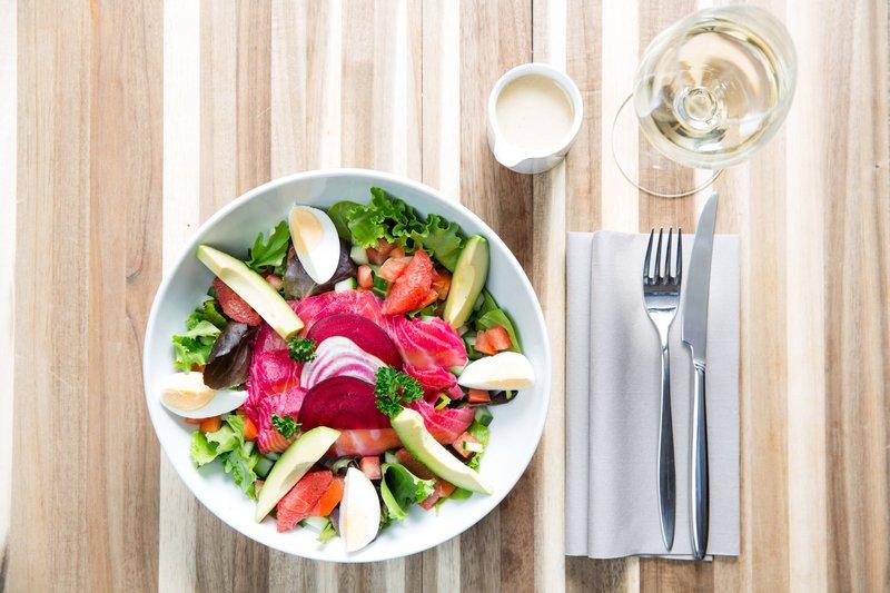 Courtyard Brussels-Courtyard Lounge & Dining - Salmon Gravlax Salad<br/>Image from Leonardo
