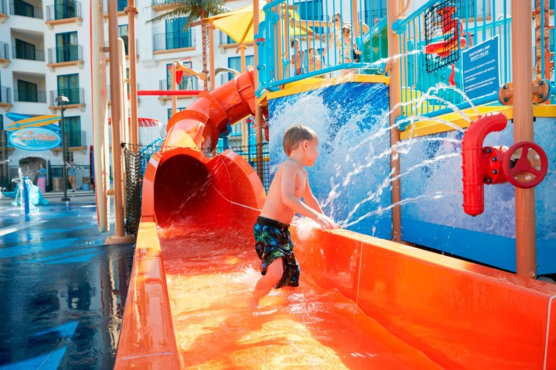 Courtyard Anaheim Theme Park Entrance-Surfside Waterpark - Waterslides<br/>Image from Leonardo