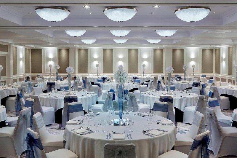 Bournemouth Highcliff Marriott Hotel-Dorchester Suite - Wedding Reception Setup<br/>Image from Leonardo