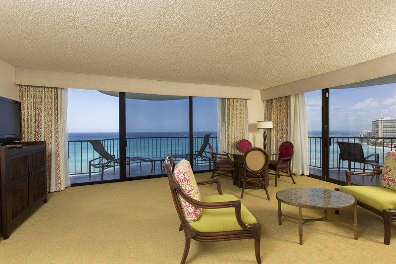 Waikiki Beach Marriott Resort  - One-Bedroom Suite – Living Area <br/>Image from Leonardo
