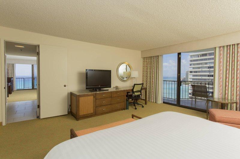 Waikiki Beach Marriott Resort  - One-Bedroom Suite Bedroom <br/>Image from Leonardo