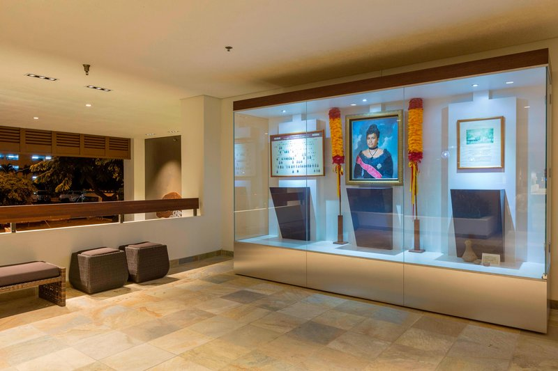 Waikiki Beach Marriott Resort  - Queen Lili'uokalani Historic Display <br/>Image from Leonardo