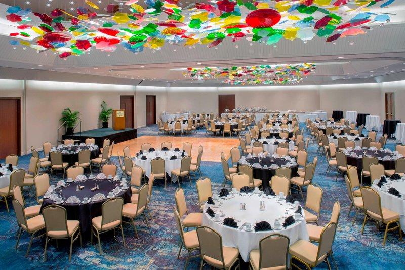 Waikiki Beach Marriott Resort  - Kona Moku Ballroom - Banquet Set <br/>Image from Leonardo
